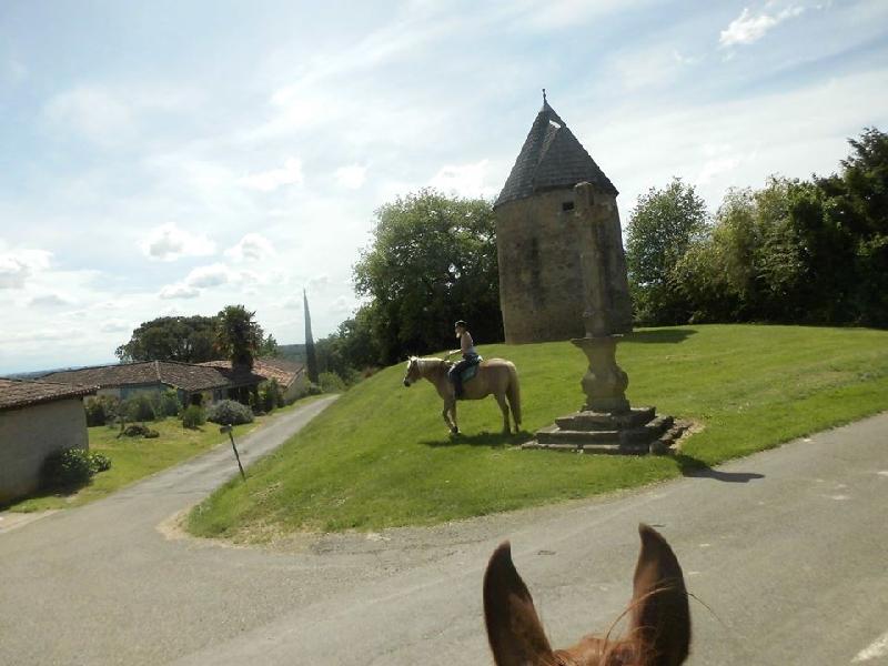 l'entrée de Lupiac : 3 heures à cheval, cadence zen